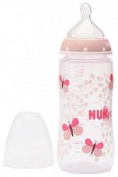 Нук ферст чойс плюс бутылочка полипропиленовая с силиконовой соской размер m 0-6 месяцев арт.10741578 300мл