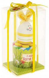 Колориста полотенце сувенирное пасхальный кролик 25х25см желтый