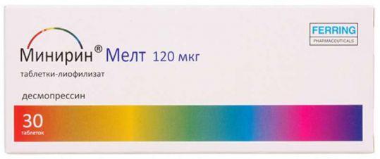 Минирин мелт 120мкг 30 шт. таблетки-лиофилизат, фото №1