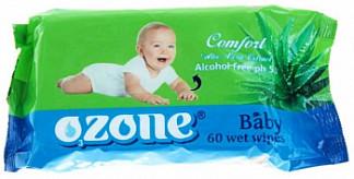 Озон салфетки влажные детские алоэ 60 шт.
