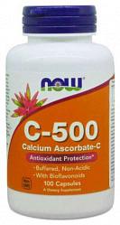 Нау фудс витамин с-500 капсулы 100 шт.
