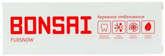 Бонсай зубная паста бережное отбеливание фуджисноу 105г, фото №1