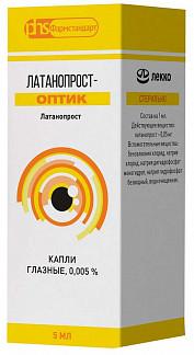 Латанопрост-оптик 0,005% 5мл 1 шт. капли глазные