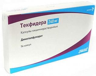 Текфидера 240мг 56 шт. капсулы кишечнорастворимые