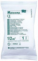 Матопат матокомп марля стерильная перевязочная 17нитей 0,5мх0,5м 1 шт.