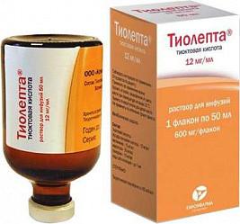Тиолепта 12мг/мл 50мл 1 шт. раствор для инфузий