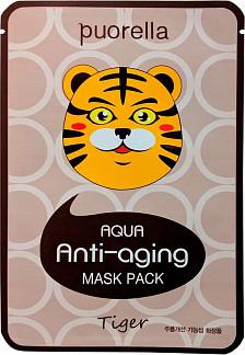 Пуорелла аква маска для лица антивозрастная тигр