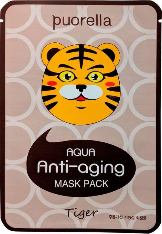 Пуорелла аква маска для лица антивозрастная тигр, фото №1