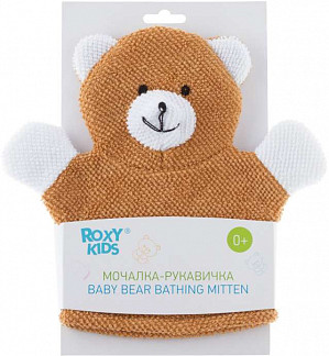 Рокси кидс мочалка-рукавичка махровая baby bear 0+