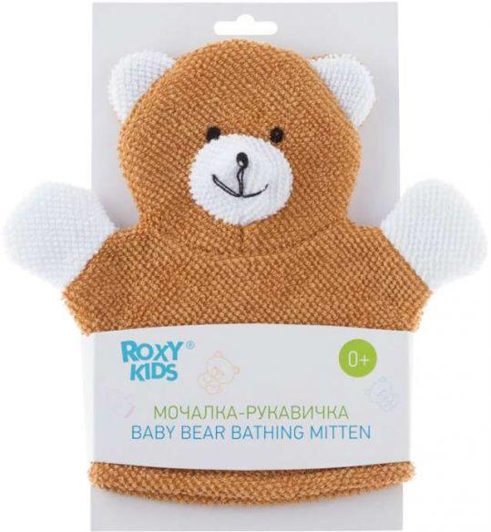 Рокси кидс мочалка-рукавичка махровая baby bear 0+, фото №1