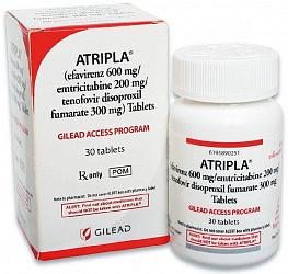 Атрипла 30 шт. таблетки покрытые пленочной оболочкой