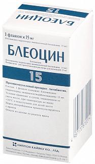 Блеоцин 15мг 1 шт. лиофилизат для приготовления раствора для инъекций