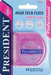 Президент флосс зубная нить фито уайт вощеная 25м арт.132