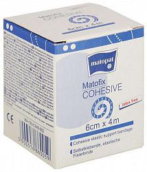 Матопат матофикс бинт эластичный когезивный 4мх6см 1 шт.