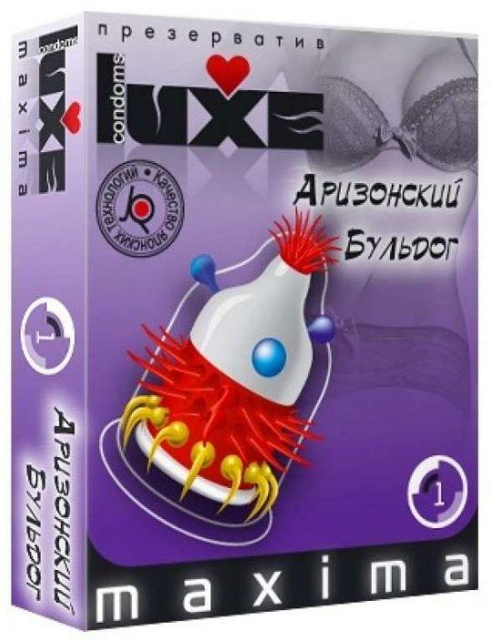 Люкс максима презервативы аризонский бульдог 1 шт., фото №1