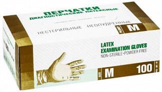 Сф перчатки диагностические латексные нестерильные опудренные размер m 50 шт. пар