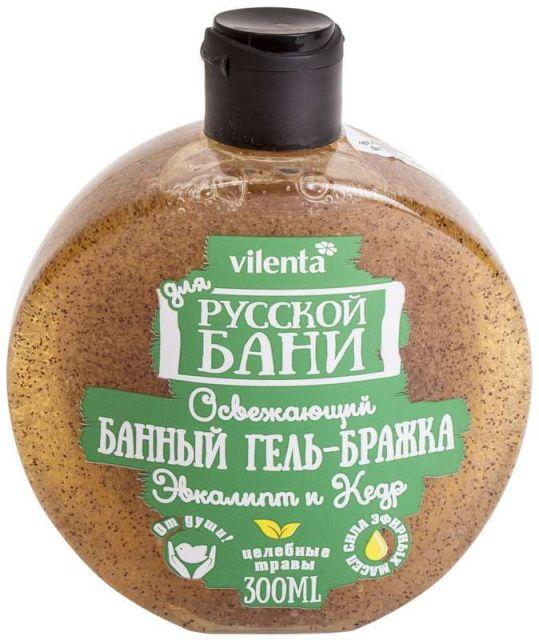 Вилента для русской бани освежающий банный гель-бражка эвкалипт/кедр 300мл, фото №1