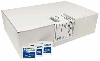 Салфетка спиртовая антисептическая из нетканого материала стерильная 30х65мм 600 шт.