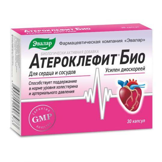 Атероклефит био капсулы 250мг 30 шт. эвалар, фото №1