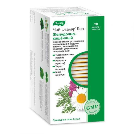 Эвалар био желудочно-кишечный чай 1,8г 20 шт. фильтр-пакет эвалар, фото №1