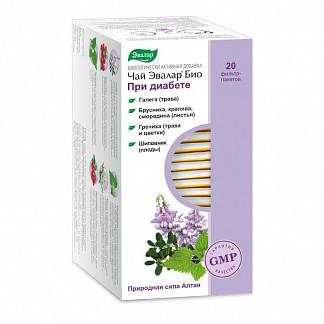 Эвалар био при диабете чай 1,5г 20 шт. фильтр-пакет эвалар