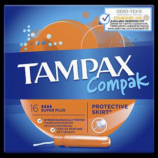 Тампакс компак тампоны с аппликатором супер плюс 16 шт.