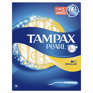 Тампакс дискрит перл тампоны с аппликатором регуляр 18 шт.