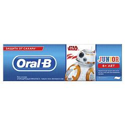 Орал-би зубная паста детская джуниор 6+ нежная мята 75мл