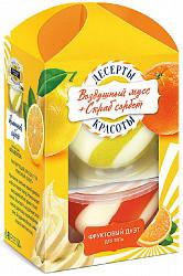 Фитокосметик десерты красоты набор фруктовый дуэт (скраб для тела лимонный сорбет 220мл+мусс для тела апельсиновый джем 220мл)