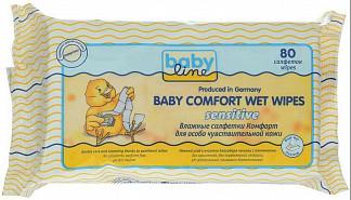 Бэбилайн салфетки влажные комфорт сенсетив 80 шт.