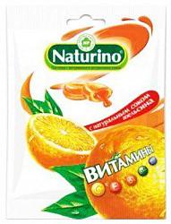 Натурино с витаминами и натуральным соком пастилки апельсин 60г