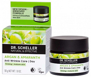 Др. шеллер крем для лица дневной разглаживающий аргановое масло/амарант 50мл