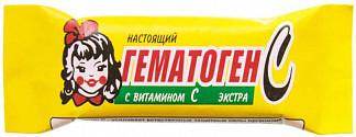 Гематоген настоящий с витамином c экстра 40г