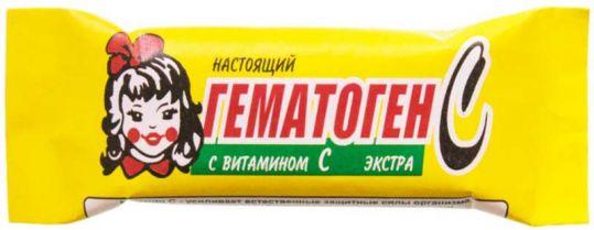 Гематоген настоящий с витамином c экстра 40г, фото №1