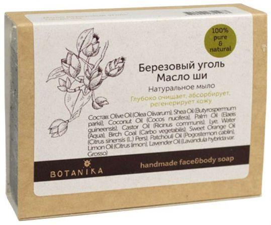 Ботавикос мыло натуральное березовый уголь/масло ши 100г, фото №1