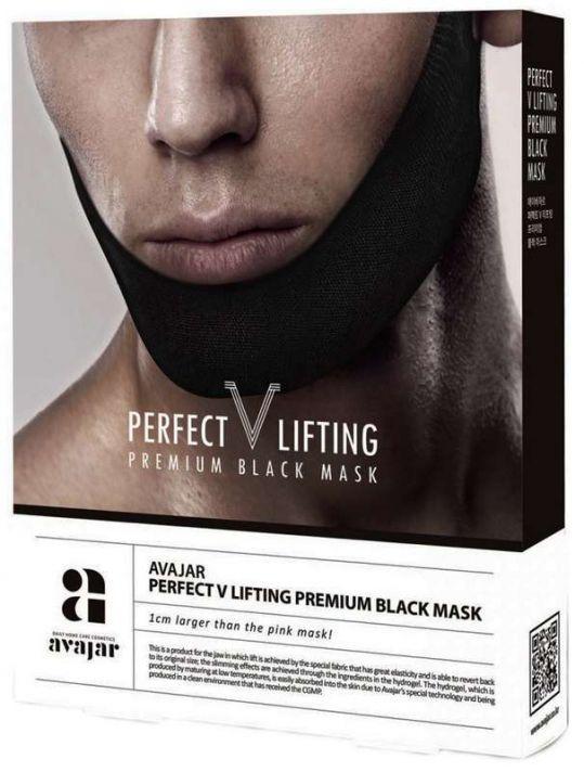 Аваджар перфект в лифтинг маска для лица мужская (черная) 5 шт., фото №1