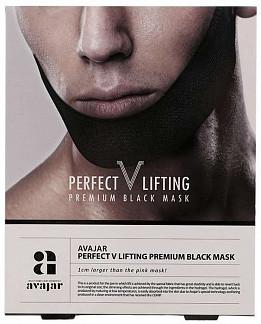 Аваджар перфект в лифтинг маска для лица мужская (черная) 1 шт.