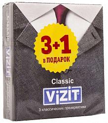 Визит презервативы классические n3+1
