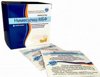 Нимесулид-мбф 100мг 2г 5 шт. гранулы для приготовления суспензии для приема внутрь
