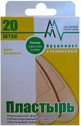 Пластырь круопласт фиксирующий 1,9х7,2см №20 текстиль