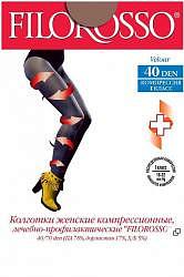 Филороссо велюр колготки компрессионные лечебно-профилактические 80den размер 4 бежевые