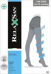 Релаксан бэйсик колготки 1 класс компрессии 140den арт.880 размер 3 черный