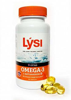 Лиси омега-3 капсулы с витамином д 60 шт.
