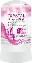 Секреты лан дезодорант для тела минеральный с экстрактом хлопка для чувствительной кожи 60г
