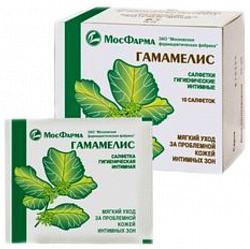 Гамамелис салфетки гигиенические 10 шт.