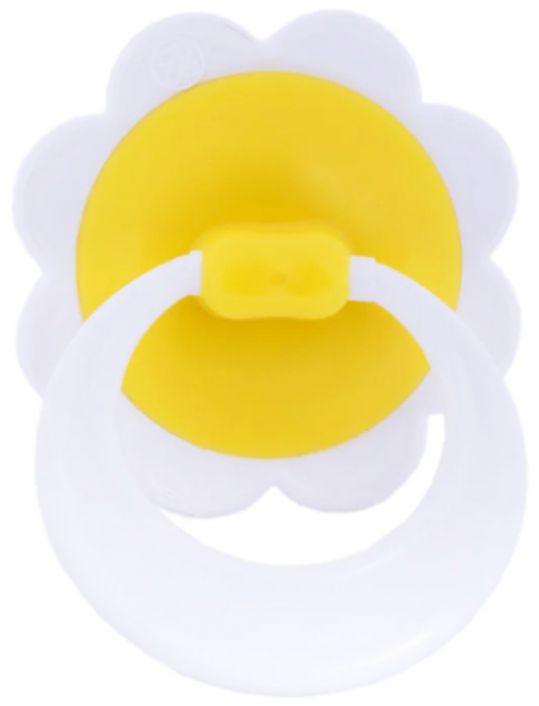 Соска-пустышка латексная ромашка с кольцом, фото №1
