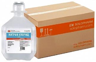 Натрия хлорид 0,9% 250мл 20 шт. раствор для инфузий флакон