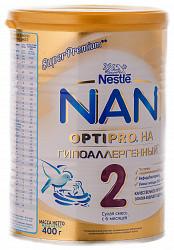 Нестле нан га оптипро 2 смесь молочная 400г