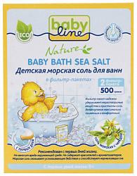 Бэбилайн соль для ванн детская череда 500г