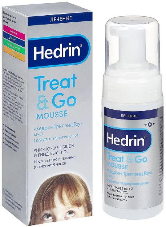 Хедрин трит энд гоу мусс средство педикулицидное 100мл, фото №1